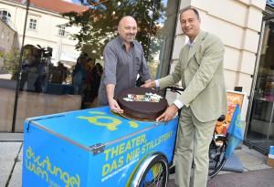 (c) PID leiter des Dschungel Wien Stephan Rabl und Kulturstadtrat Andreas Mailath-Pokorny zum 10-jährigen Bestehen des Theaterhauses