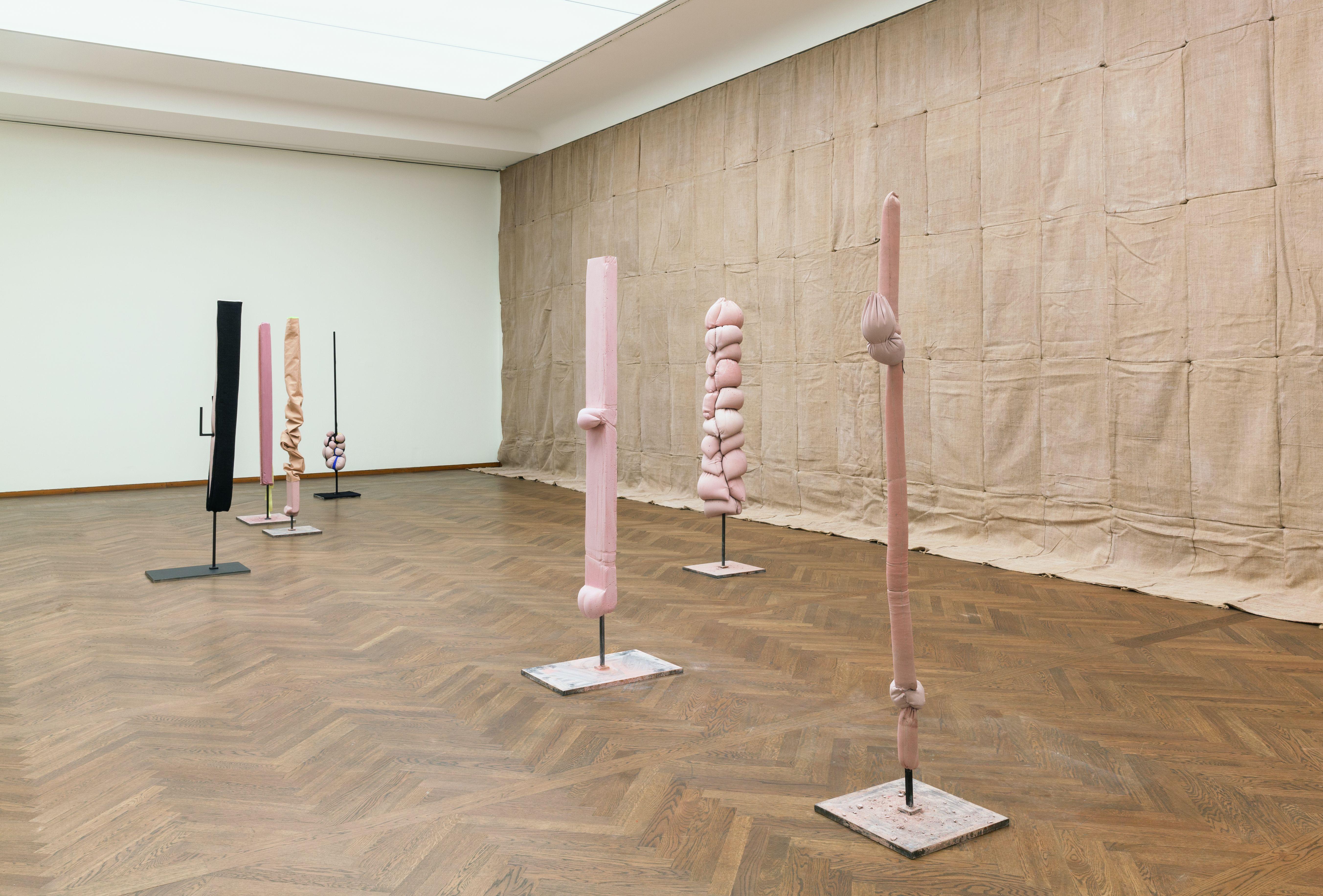Anne Schneider Ausstellungsansicht Poetiken des Materials Leopold Museum Wien 2016 Foto Lisa Rastl