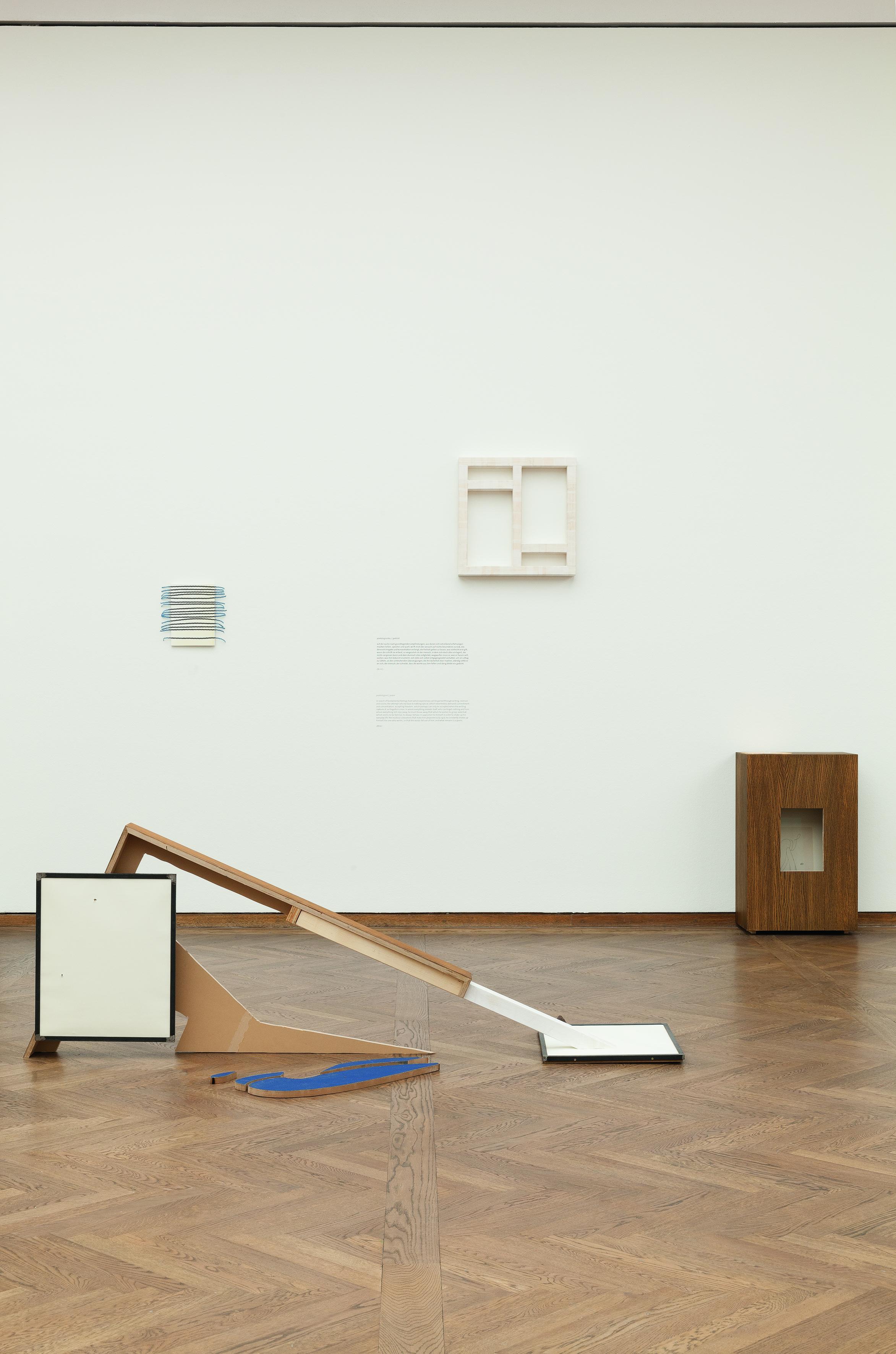 Misha Stroj und Michael Hammerschmid Ausstellungsansicht Poetiken des Materials Leopold Museum Wien Foto Lisa Rastl