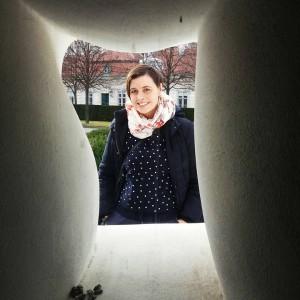 """Ich, aus dem """"Fat House"""" gesehen. Wien, Belvedere"""