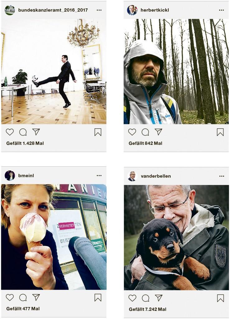 Politiker auf Instagram